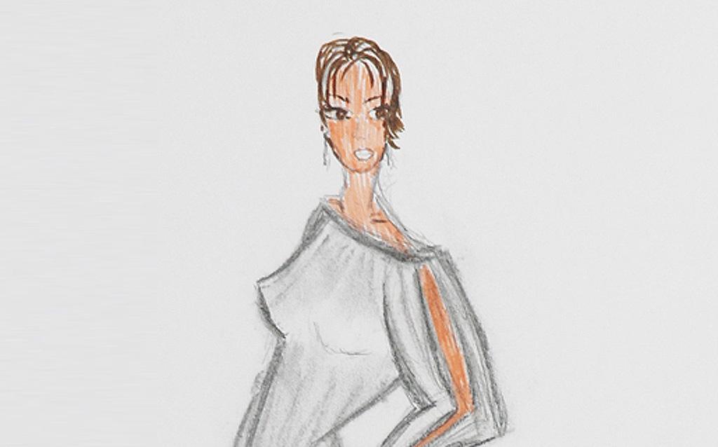 Mode-Zeichnung