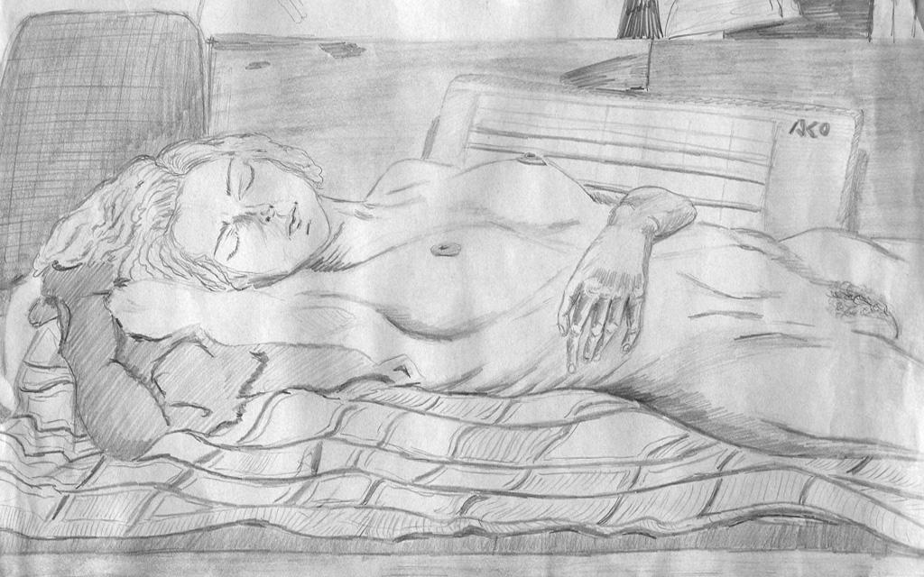 Akt-Zeichnung