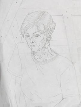 Selbstportrai Zeichnung 01