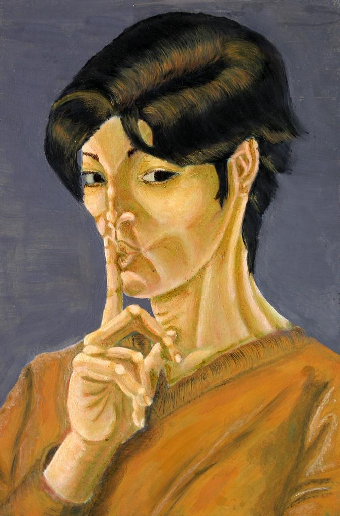 Selbstportrait mit Schichttechnik 02