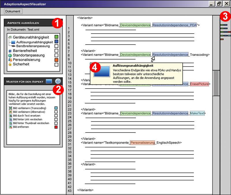 Beleg - Aspektvisualisierer - Wireframe