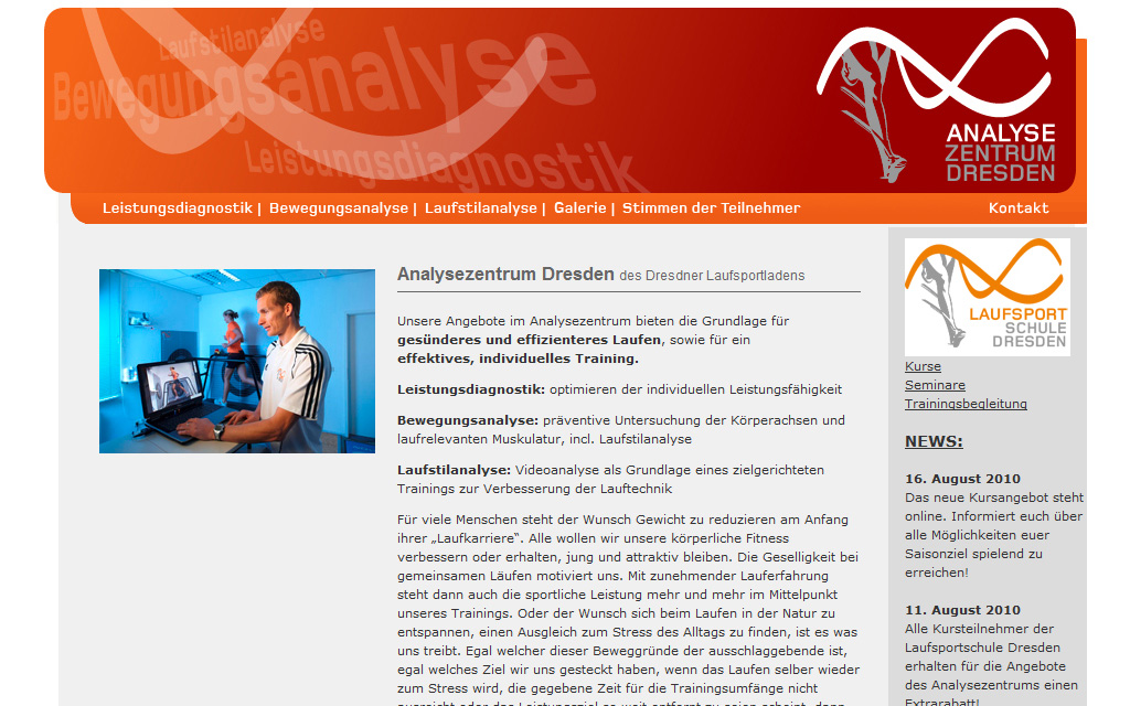 Analysezentrum Dresden - Neues Design