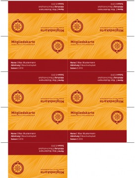 Dresdner SSV - Membership cards with cutting markers