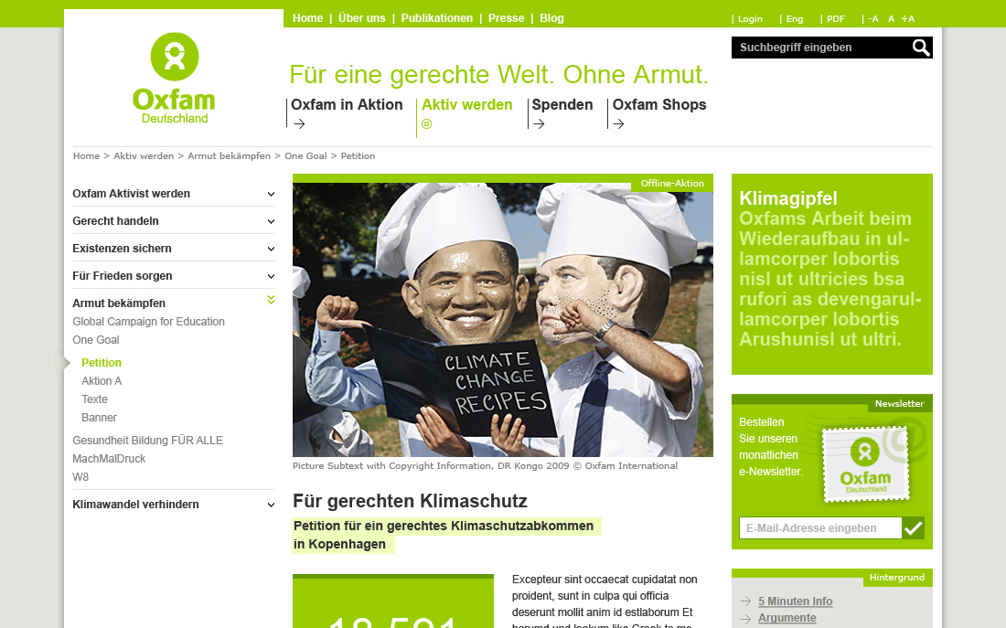 Oxfam - Startseite