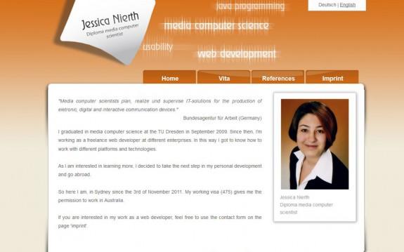 Jessica Nierth - Version 1.0 - Startseite