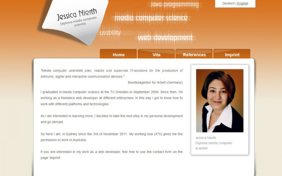Jessica Nierth - Blog version 1.0