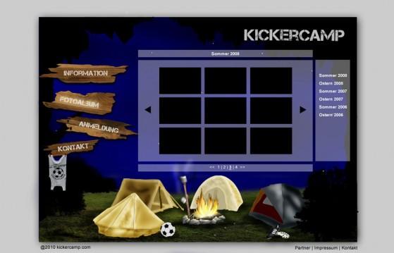Kickercamp - Neues Design der Bildergalerie von Jessica Nierth