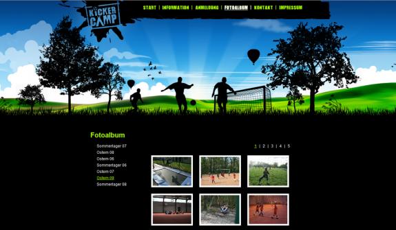 Kickercamp - Neues Design der Bildergalerie von Alexander Flähmig