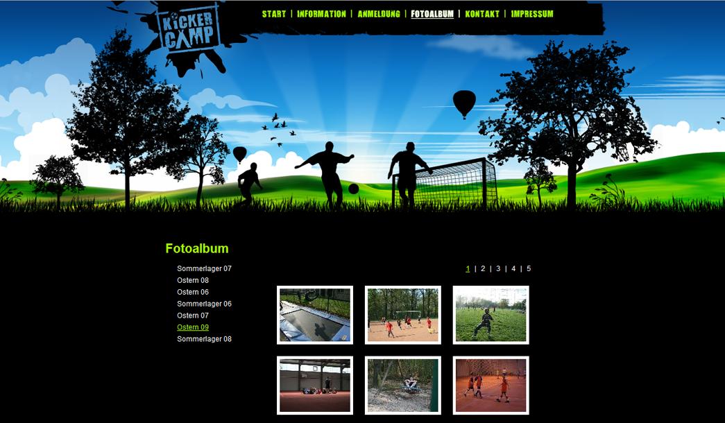 Kickercamp - Neues Design - Bildergalerie
