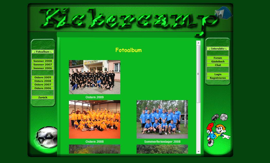 Kickercamp - Ursprüngliches Design der Bildergalerie