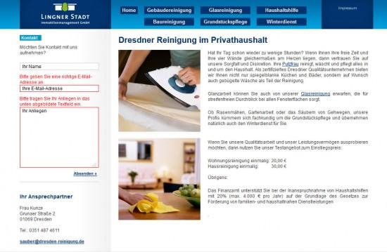 Lingnerstadt - Form validation