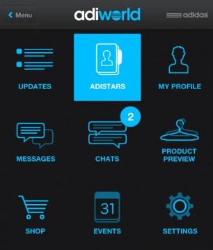 Adiworld - Mobile Ansicht - Startseite