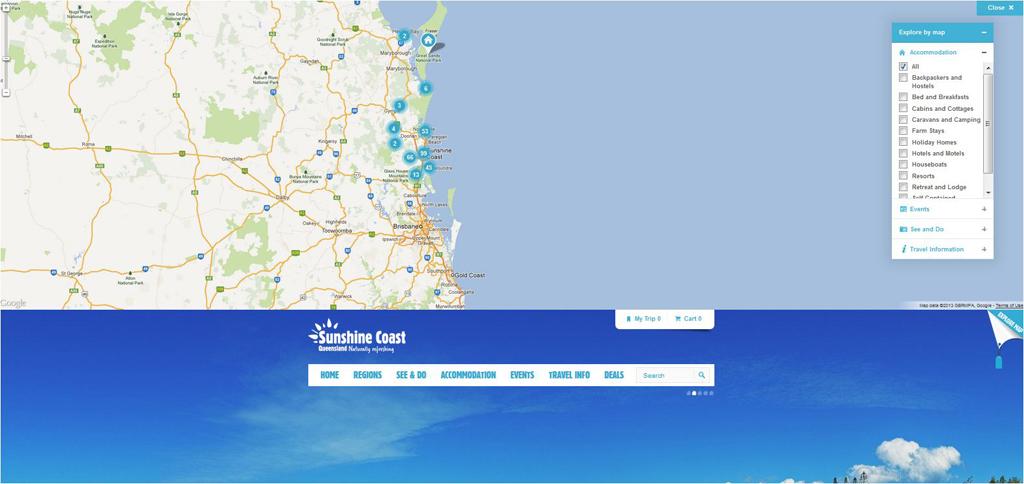 Sunshine Coast - Konsumenten Seite - Google Map