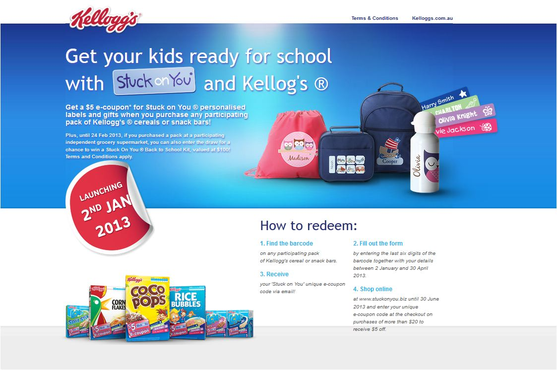 Kelloggs - Back to School - Startseite