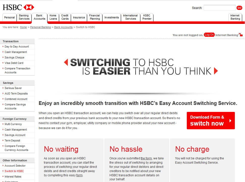 HSBC - Switching 01
