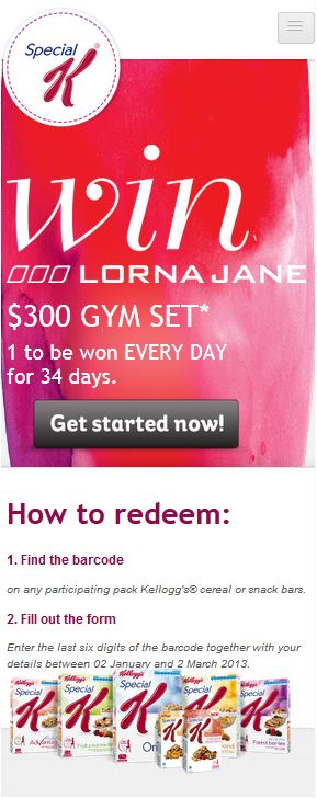 Lorna Jane - Mobiles Engerät 320px Breite