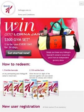 Lorna Jane - Homepage - Mobile view