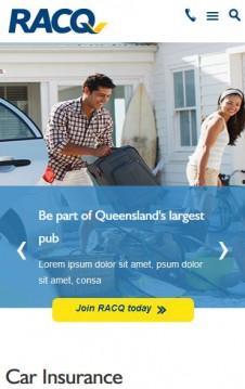 Racq - Image slider on mobile
