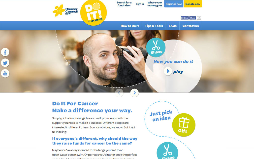 Do it for cancer - Homepage