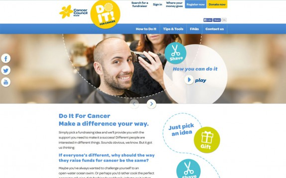 Do it for cancer - Startseite
