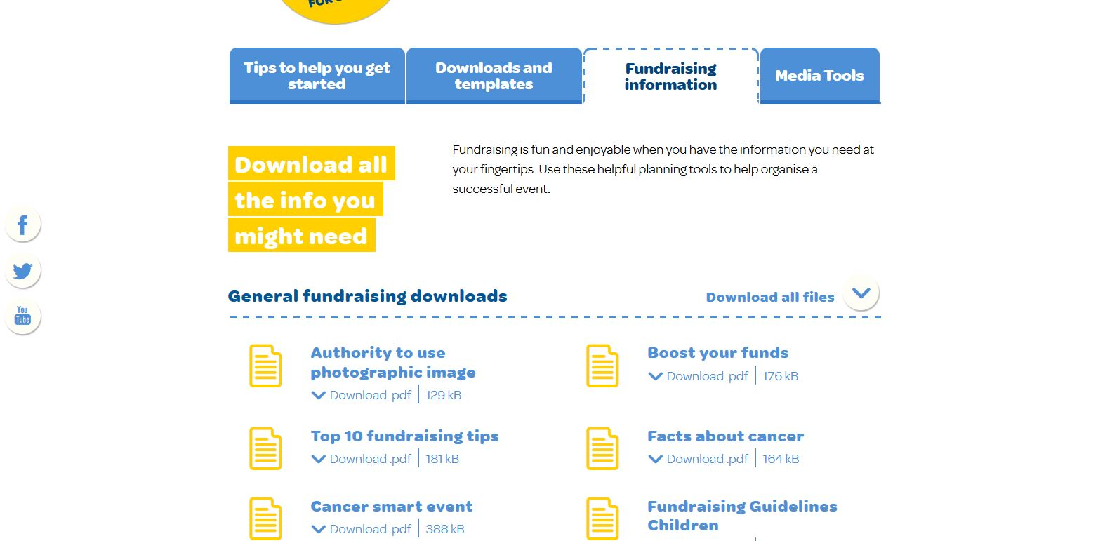 Do it for cancer - Download kits