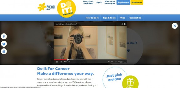 Do it for cancer - Video overlay